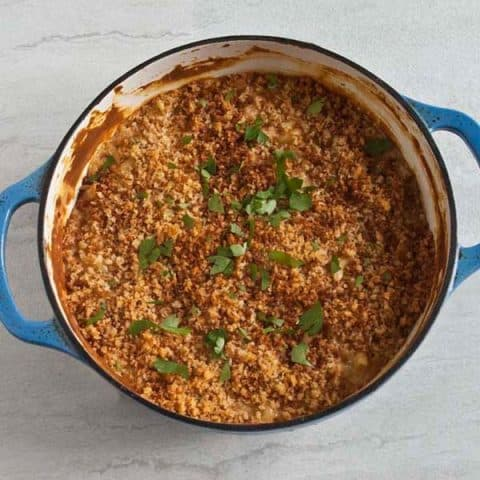 baked provel macaroni and cheese