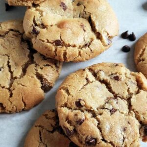 Peanut Butter Chocolate Chip Cookies with a Caramel Center {Sumbitch Cookies}