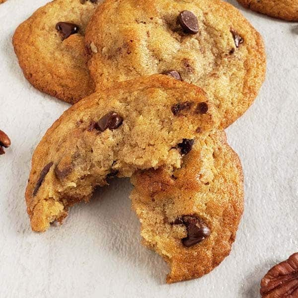 Bacon Fat Chocolate Chip Cookies with Bourbon and Pecans