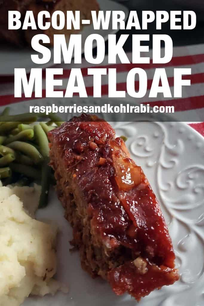 Slice of meatloaf on a white plate