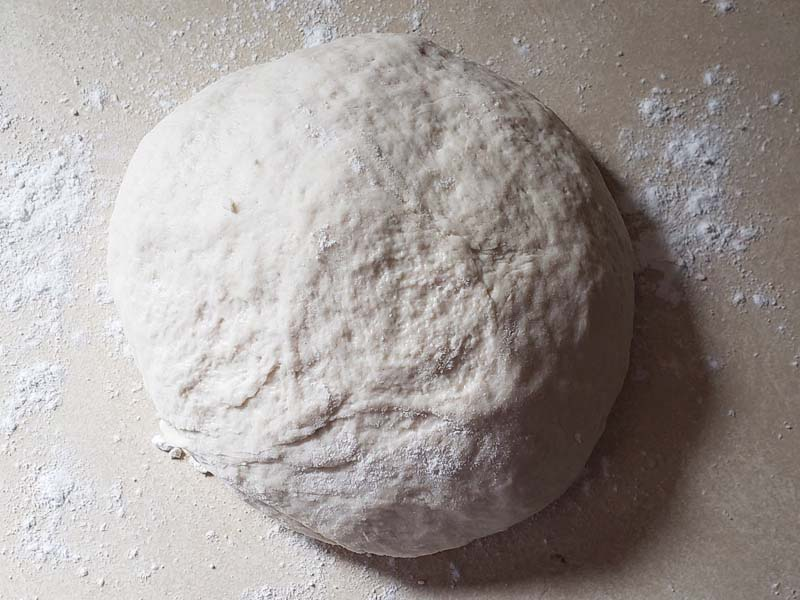 pita bread dough kneaded until smooth