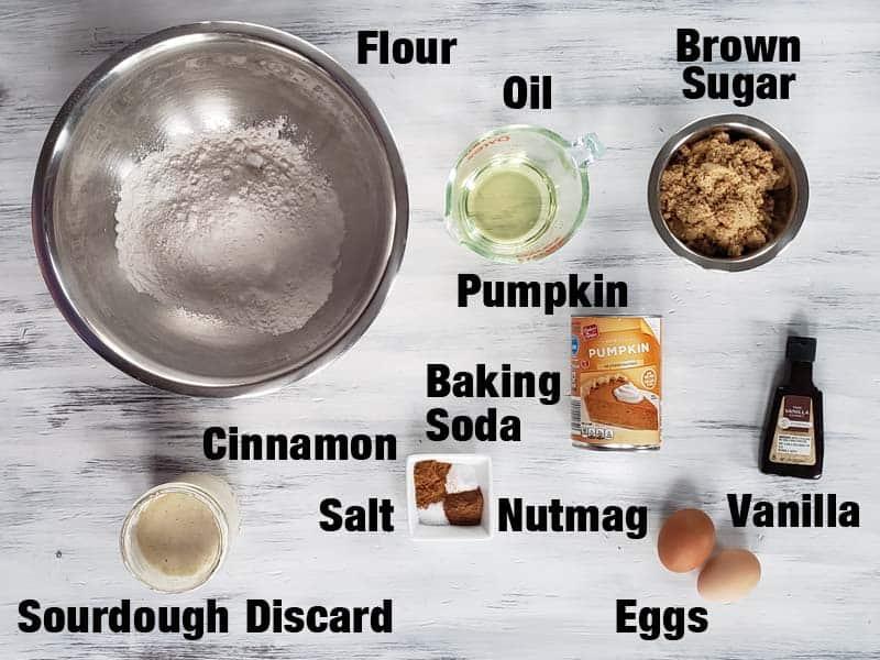 sourdough pumpkin bread ingredients