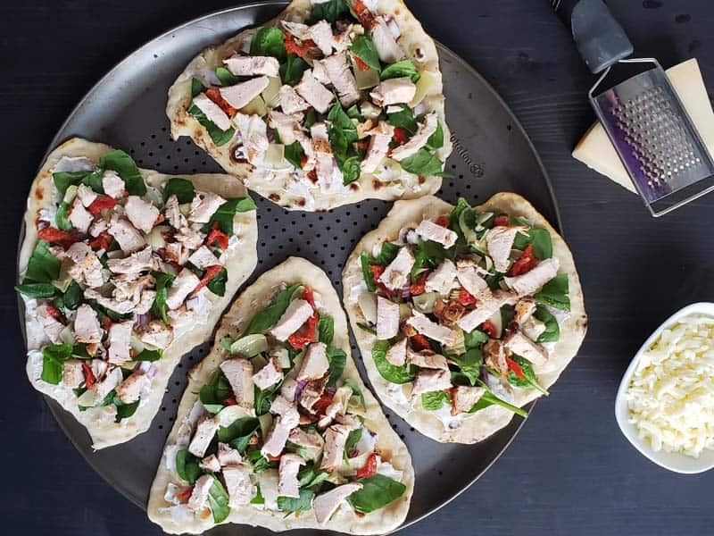 flatbread topped with chicken artichoke flatbread ingredients