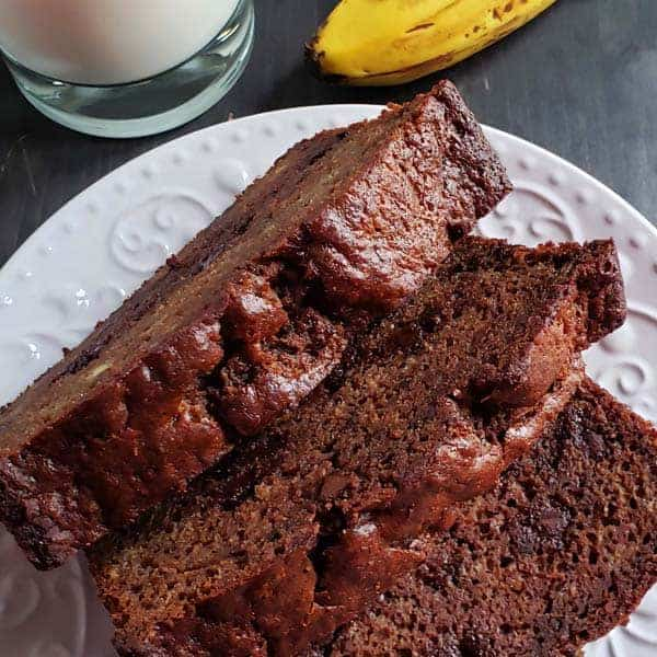 Sourdough Chocolate Banana Bread