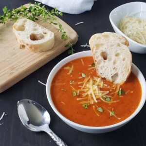 Roasted Tomato and Herb Soup