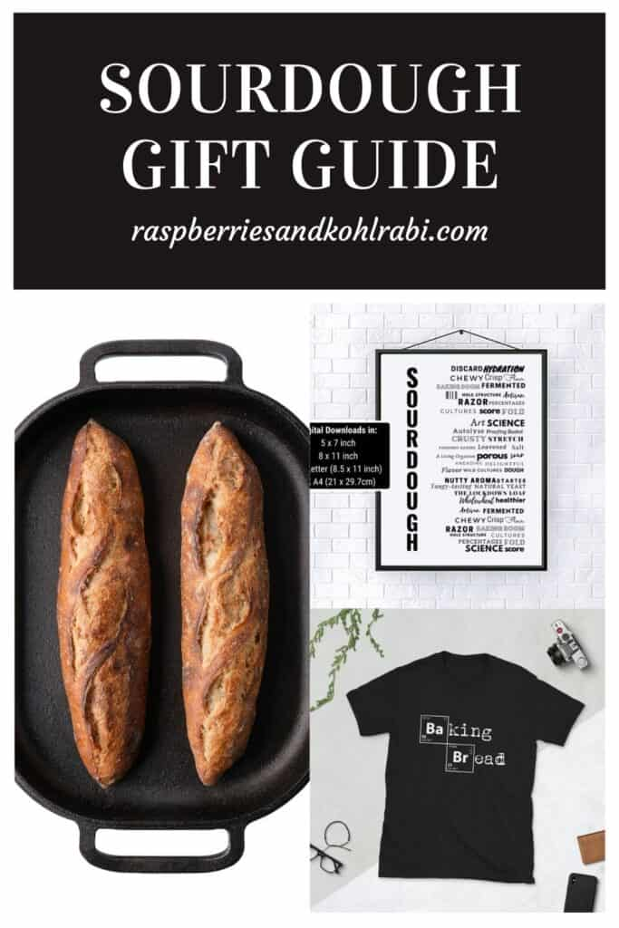 collage of three gift ideas for bakers