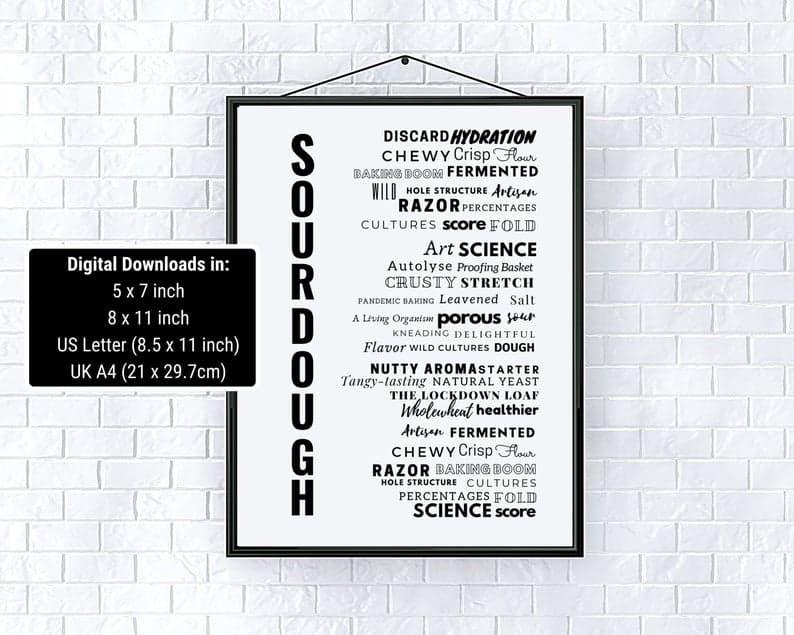 Typography Sourdough Art Print