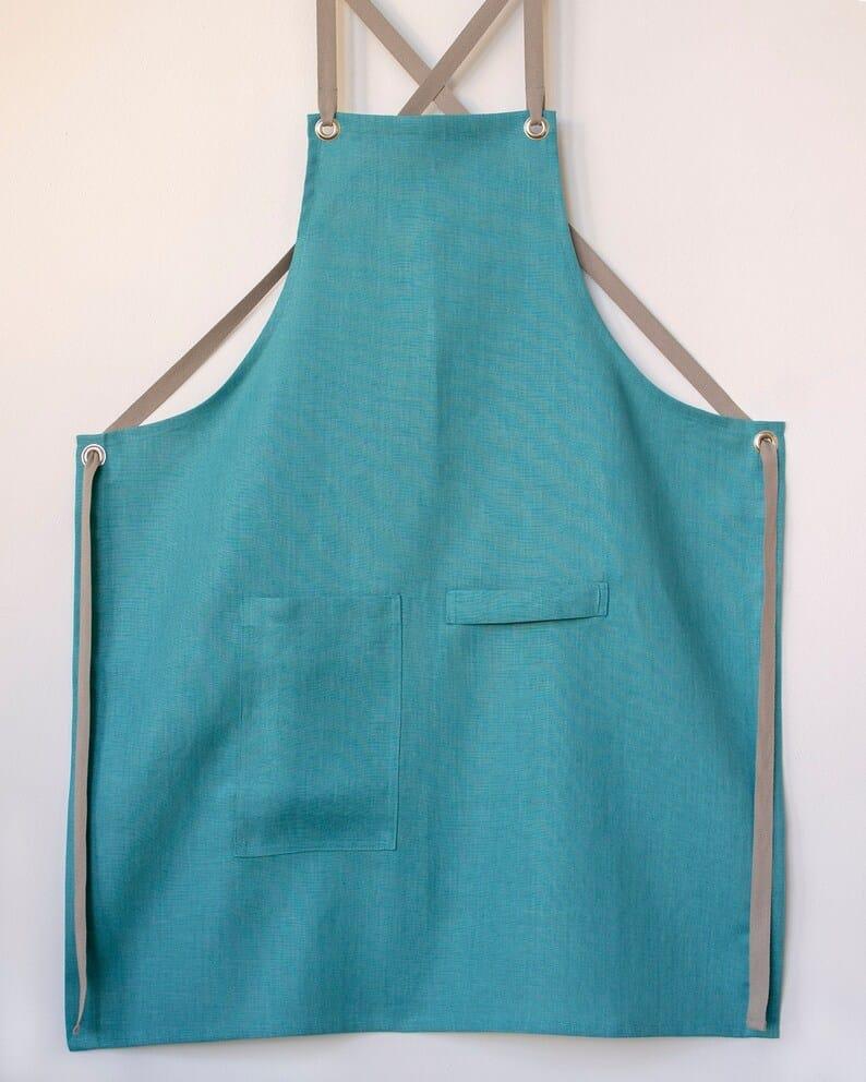 teal apron