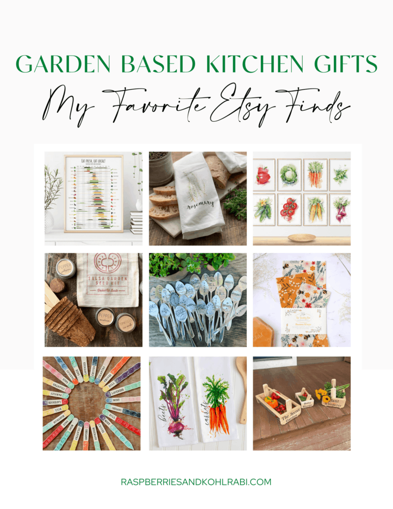 collage of gifts for gardeners