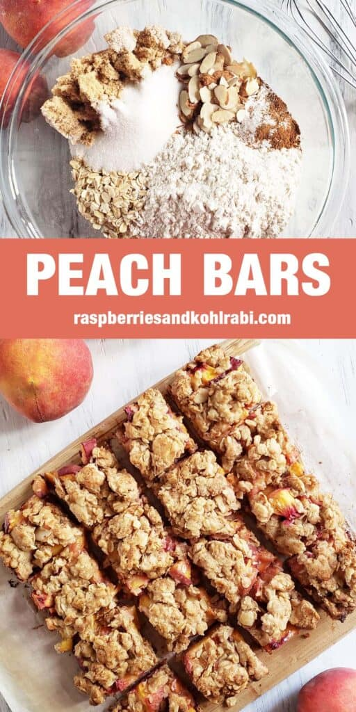 peach oatmeal bars Pinterest image