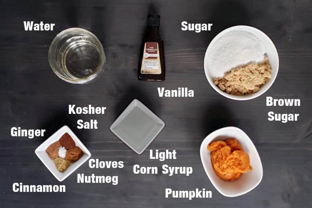 pumpkin syrup ingredients